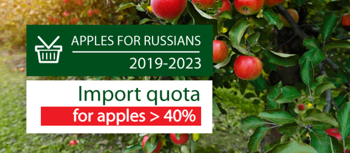 APPLES FOR RUSSIANS: LIMITED IMPORT & POSSIBILITIES FOR LOCAL PRODUCTION
